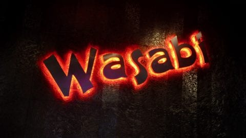 Wasabi neon sign