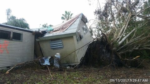Hurricane damage in Estero