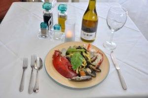 Black and Saffron Fettuccine Seafood Special