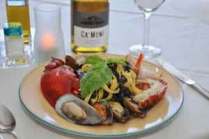 Black and saffron fettuccine seafood special 2