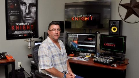 Andre Ninchritz edited 'The Last Days of Knight' at his Estero studio