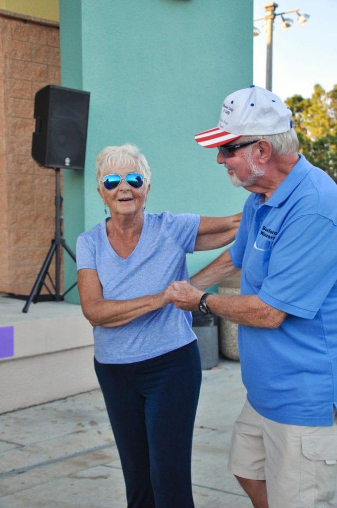 Ann and Warren Bartlett dancing