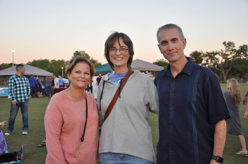 Barbara Saxton with Susan and Rick Korecki