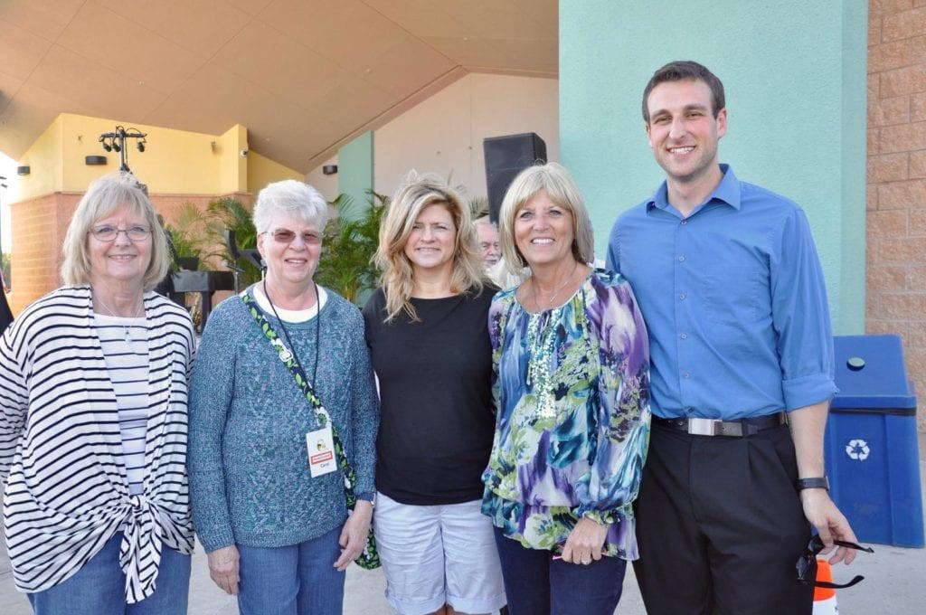 Cathy Hall, Carol Pikor, Lisa Roberson, Carol Sacco and Kyle Coleman
