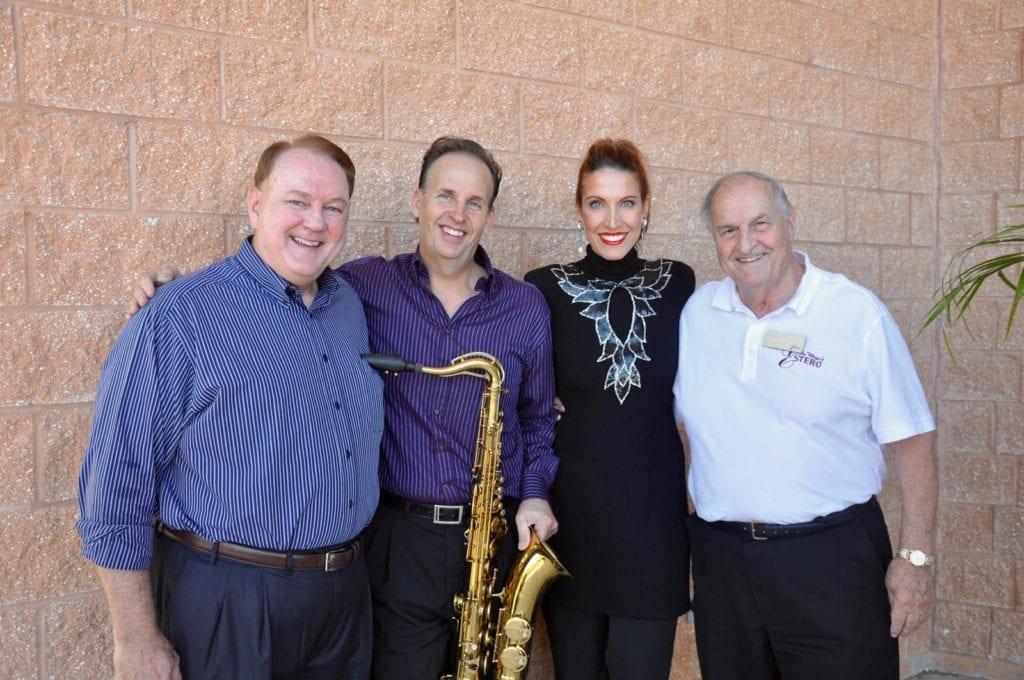 Chairman Nolen Rollins, Billy Dean & Dawn Birch and Mayor Jim Boesch