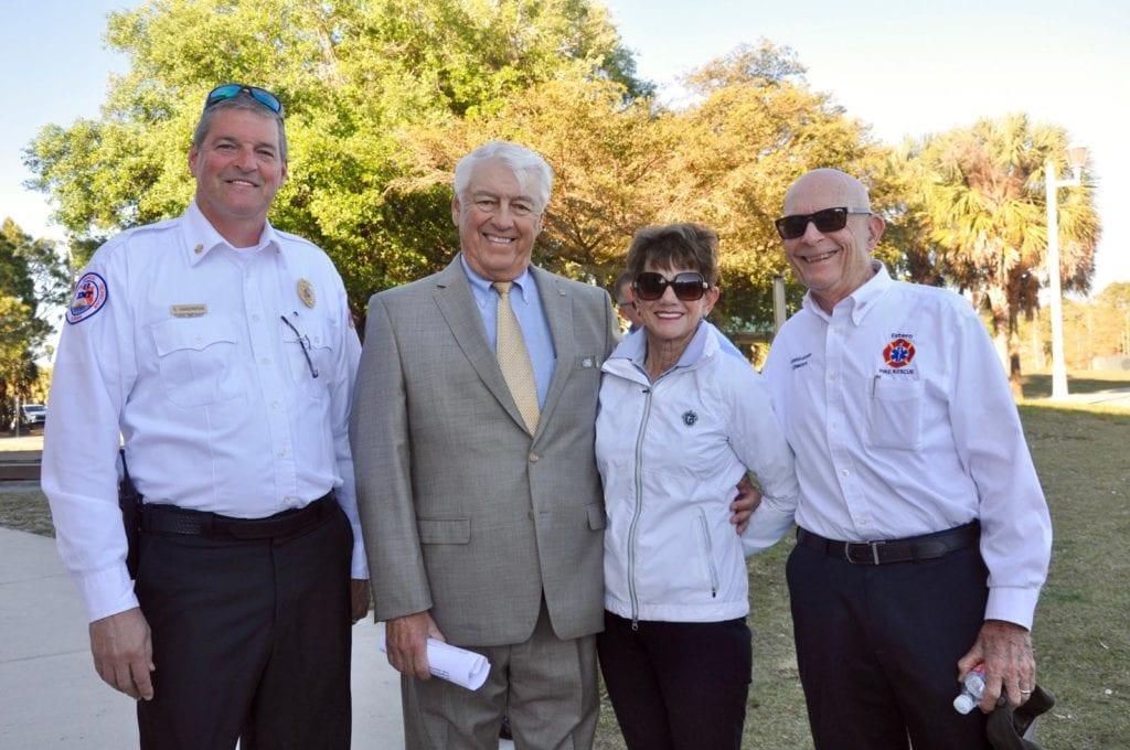Fire Chief Scott Vanderbrook, Rich and Faye Hart and Dick Schweers