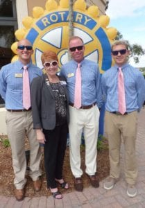 District Governor Bobbi and the boys with shades @VasariCC