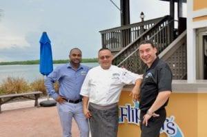 Flipper's GM Ajan Sathan, Chef Juan Cruz and Sommelier Mladen Stoev