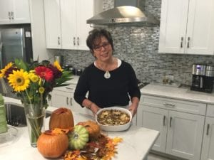 Barb Hyman with her favorite Thanksgiving side dish
