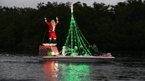 Boat Parade along the Imperial River, enjoyed by the Willoughby family
