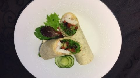 Shrimp cucumber wrap by Daryll Hersche