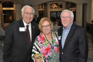 Founders Club members Nick Batos and Bettie and Jim Gilmartin at the celebration_photo by David Michael