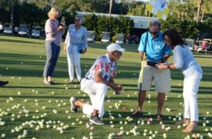 Pelican Sound Charitable Foundation Helicopter Golf Ball Drop fundaiser