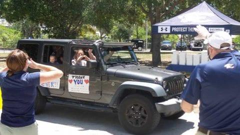Estero High School administration appreciation drive thru parade