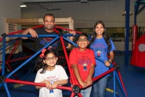 Ankur and Vee Patel with Zara and Aman at We Rock the Spectrum Kid's Gym