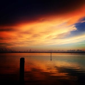 3rd Place_Jesse Stein_Colorful, dark, cloudy Estero Bay sunset