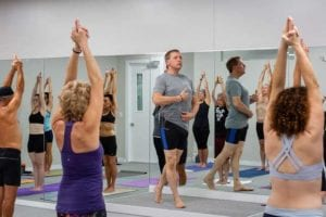 Our Yoga Place Co-owner Tom Palmer intructs a class