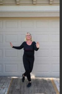 Laurie Krueger tap dancing at her Reserve at Estero home