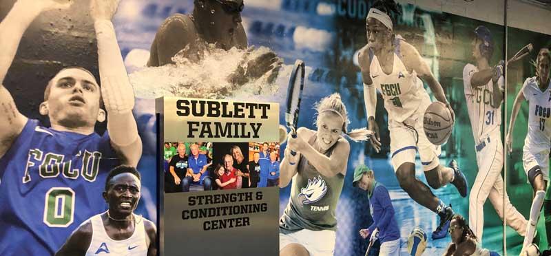 Mural recognizing Sublett family