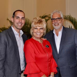 Joe Pavich, Sr. (right) with son Jason and wife Joni, all Estero Realtors