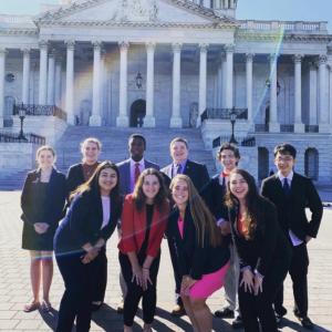 Sarah Schwartz with American Battlefield Trust youth leadership team 2019-20