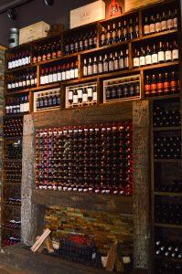 Wine wall at El Gaucho Inca