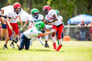 JD Irons makes a tackle against North Fort Myers