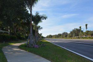 New bicycle-pedestrian pathway on Estero Parkway