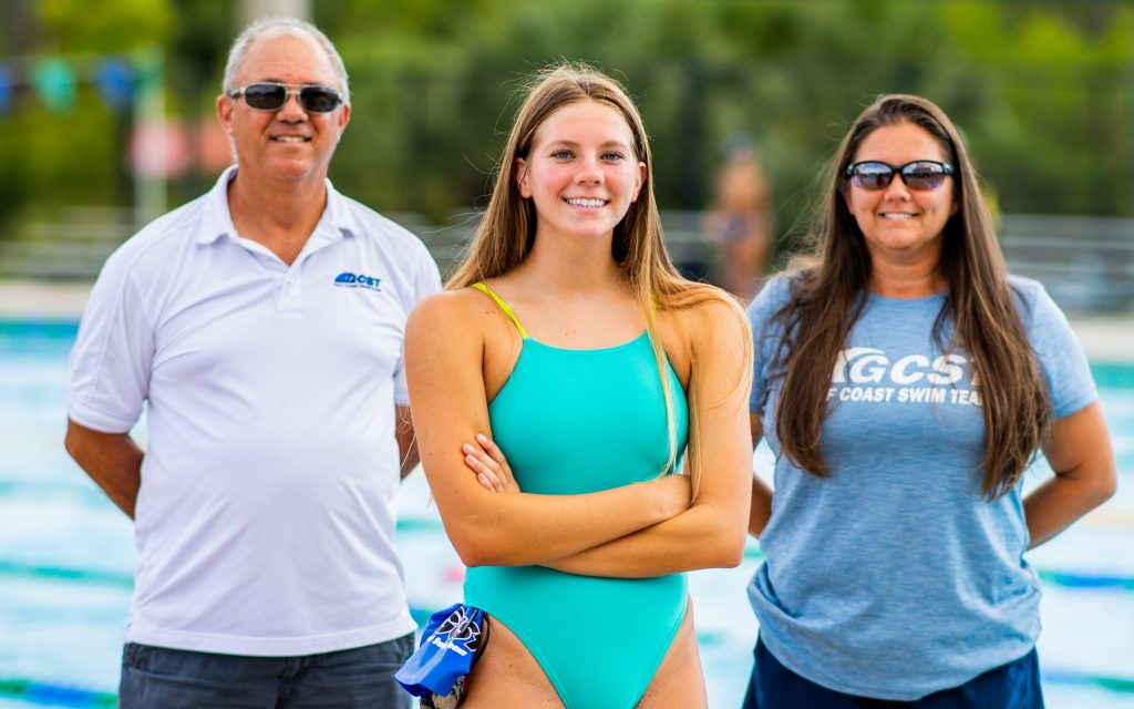 Photos of Cadence Fort of the Gulf Coast Swim Team. Photo by Brad Young / Special to Estero Life