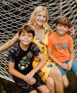 Tara Settembre and her sons