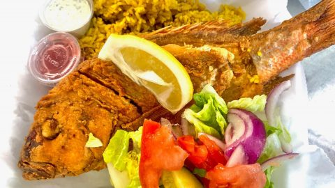 The Food Rock whole snapper