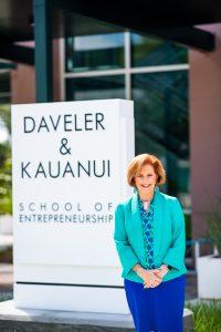 Sandra Kauanui, director for the School of Entrepreneurship