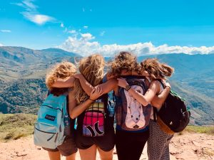 Emma (right) and friends on a mission trip in Bolivia