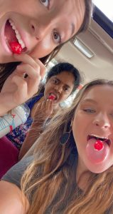 Emma, Sothita and Haley on one of their trips to Sonic