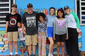 The Bullock family with their sponsored children at Haven of Hope Bolivia
